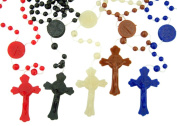 Saint St Benedict Cord Rosary, 100 Pack, Assorted Colour