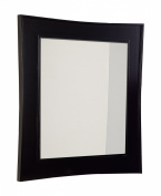 American Imaginations AI-106-54 Transitional Birch Wood-Veneer Wood Mirror, 80cm x 90cm , Dark Mahogany