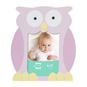 Prinz Little Safari Pink Shaped Owl Wood Frame, 10cm by 15cm