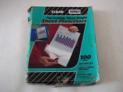 Samsill 41285 Clear Insert Sheet Protectors Top Loading Heavy Weight Vinyl 28cm x 22cm Sold in Bulk Package of 100 Sheets Vintage Item