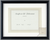 Gallery Solutions Matted Black and Silver Document Frame, 28cm by 36cm to 22cm by 28cm