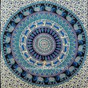 Twin Size Elephant Mandala Tapestry