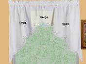 Battenburg Lace Kitchen Curtain 100cm L Swags ECRU BEIGE