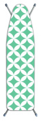 Laundry Solutions by Westex Deluxe Extra Thick Geo Circles Ironing Board Cover, Blue