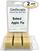 Candlecopia Baked Apple Pie 190ml Scented Wax Melts - A True Baked Apple Pie Fragrance!!! with pleasant undertones of spice - 2-Pack of naturally strong scented soy wax cubes throw 50+ hours of fragrance when melted in Scentsy®, Yankee Candle
