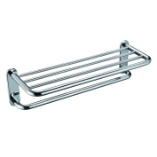Angle Simple GA8412-1 Bathroom Shelf Towel Rack with Towel Bar, Polished Stainless Steel