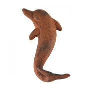 Rustic Metal Wall Mount Dolphin Tail Key Hook Beach Towel Hanger Nautical Decor