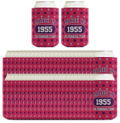 60th Birthday Gift Coolie Made 1955 Can Coolies 48 Pack Can Coolie Drink Coolers Coolies Polka Dot