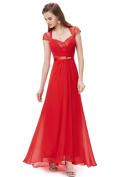 Diamante Cap Sleeve Dress - Red size 14
