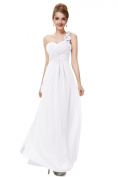 Sweetheart Pleated Evening Dress - White size 12