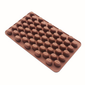 X-Haibei Coffee Beans Chocolate Candy Ice Cube Cake Decoration Silicone Bakeware Mould