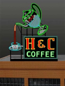 7881 Model H & C Coffee Animated Lighted Sign by Miller Signs