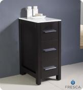 Fresca Torino Bathroom Linen Side Cabinet, 30cm , Espresso