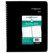 DayMinder 17cm x 22cm Wire Bound Monthly Planner for 2016, Black