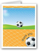 Soccer Thank You Note Card- 10 Cards & Envelopes