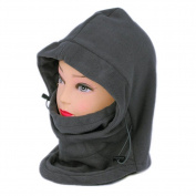 Sealike 6 in 1 Neck Balaclava Winter Face Hat Fleece Hood Ski Mask