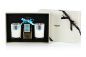Bahoma Ocean Spa Luxurious Gift Box with a 100 ml Bath Oil in a Glass Bottle Plus Two Travel Size Candles