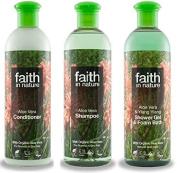 Faith In Nature Aloe Vera Shampoo, Conditioner & Shower Gel Trio
