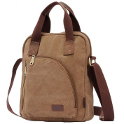 Win8Fong Men's Casual Canvas Business Handbag Computer Bag Shoulder Bag Messenger Bag