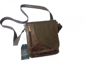 MAN SHOULDER BAG PURSE IN GENUINE LEATHER AND FABRIC,MOD