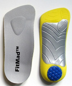 FitMad 3/4 length Orthotic Insoles with Arch Support and Heel Pad