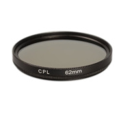 CPL Polarising Filter for 62 mm Filter Thread Polarisation Filter for Tamron AF 18-200 mm f/3.5-6.3 XR Di II LD Aspherical (If) Macro Digital Lens with 62 mm Filter Thread