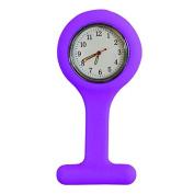 Silicone Gel Nurses Pocket Fob Watch Infection Control Machine Washable Purple