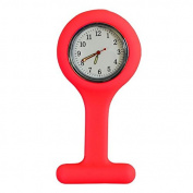 Silicone Gel Nurses Pocket Fob Watch Infection Control Machine Washable Red