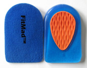 FitMad® Sport Heel Pad Supports - Cushions for Plantar Fasciitis Heel Pain- Walk More Comfortably, All Day Long .   for Tired Feet and Damaged Heels - SIZE UK 6.5-12