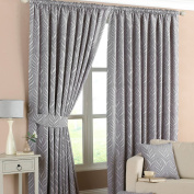 Willow Silver Pencil Pleat Curtains-168cm x 183cm