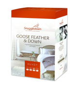 13.5 Tog Goose Feather & Down Duvet in King Bed Size with Cotton Cover Manufactured in The UK By Snuggledown
