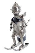 BRUBAKER Wine Bottle Holder Skier Metal Sculpture Gift