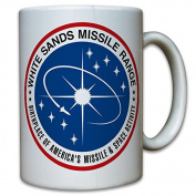 White Range Sands Missile WSMR WSPG Proving Grounds United States US Army Missile Drohnen Patch Insignia Crest BoMB Coffee Mug#9794