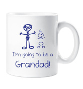 I'm Going To Be a Grandad Mug Boys Stick Person People Cup New Baby
