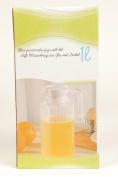 Fridge Door 1Lt Picnic Water Juice Glass Jug Pitcher with Lid