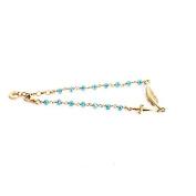 CESARE PaCIOTTI JEWELS Bracelet Unisex Gold Feather-Cyan-JPBR1101G