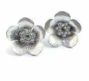 Sophia Rose Sterling Silver 925 Buttercup Stud Earrings