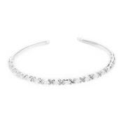 Skyllc® Silver Plated Crystal Bride Headband Tiara Hair Head Alice Band Party Lady