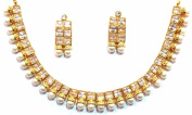 Shingar Jewellery Ksvk Jewels Women's Antique Plated Necklace Set Gold