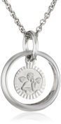 Xaana Pendant for Children and Teenagers Necklace 925 Sterling Silver Rhodium-Plated Sapphire Blue AMZ0303 36-38 CM