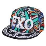 Canvas Baseball Hat EXO Fashionable Hip-Pop Hat Summer Sun Cap Green