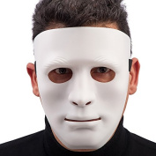 Carnival Toys 00889 weises Face Mask for Adults