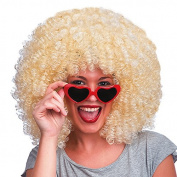 Carnival Toys 2298-Super Afro Wig, Blonde