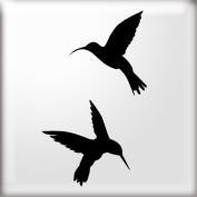 The Stencil Studio Ltd - Humming Bird Silhouette Stenci - Reusable Stencil - XS/A5 Size