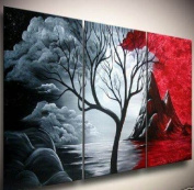 *Red Skies* Oil Painting on Canvas