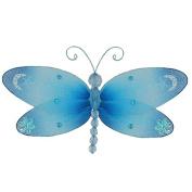 The Butterfly Grove Dakota Dragonfly 3D Hanging Mesh Nylon Decor, Hawaiian Blue, Small, 18cm x 10cm