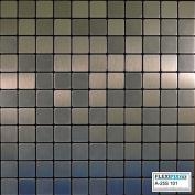 FLEXIPIXTILE, Modern Aluminium Mosaic Tile, Peel & Stick, Backsplash,Accent Wall,0.09sqm,FROZEN