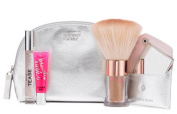 Beauty Essentials Kit Victoria's Secret Hot Summer Nights Noire Tease 7ml 0.23oz Beauty Rush Lip Gloss , Instant Brozing Shimmer Powder 4.25g / 0.15oz & Mirror