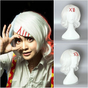 Tokyo Ghoul Juzo Suzuya Rin Halloween Anime Cosplay Beauty Curly White Sexy Women Synthetic Hair