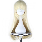 Miss U Hair Long Straight Blonde Synthetic Anime Cosplay Full Wig with Braid